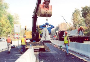 Kenco's Barrier Lift picks up jersey barriers with ease