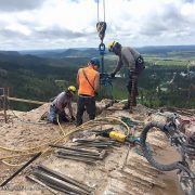 Kenco Rocklift Removing Stone from Crazy Horse Memorial