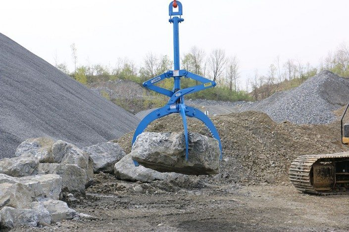 Kenco Rocklift Lifts Irregular Shaped Boulders