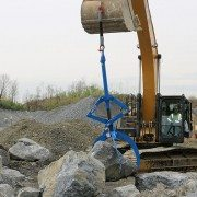 Moving Boulders with Excavator