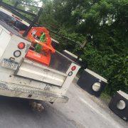 Merritt Construction receiving their Kenco Pipe Lift