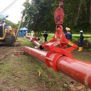 Butler Tech setting pipe in Columbia