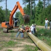 Above Ground Pipe Install with the Kenco Pipe Lift