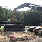 Wright Construction Unstacking Pipe