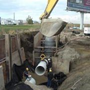 Allied Construction depths were from 6 to 20 feet deep, with poor ground conditions and high ground water levels