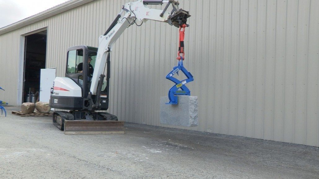 Monument Lifter Photos Showing This Attachment At Work On The Job Site