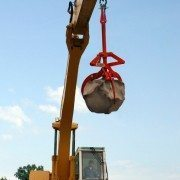Rocklift Lifting Boulder High Into the Air