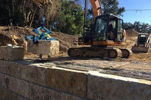 Kenco Multilift moving limestone block
