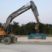 Kokosing using the Double Lift on Interstate 271 near Cleveland