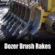 Kenco Dozer Brush Rake Options