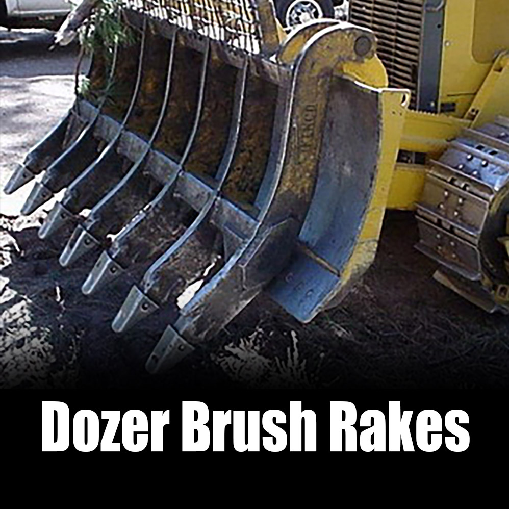Kenco Dozer Brush Rake Options