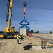 Moving Heavy Block with Crane