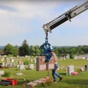 Setting Tombstones with Scissor Lift