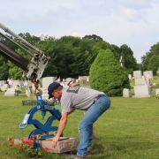 Placing Cemetery Monuments