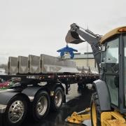MaC Contractors unloading barrier wall