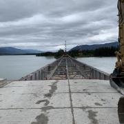 Partially Complete Bridge Deck Removal