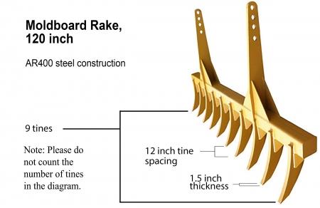 Dozer Moldboard Rake 120 Image