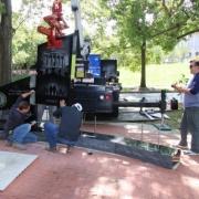 setting monument in Frankfort Kentucky
