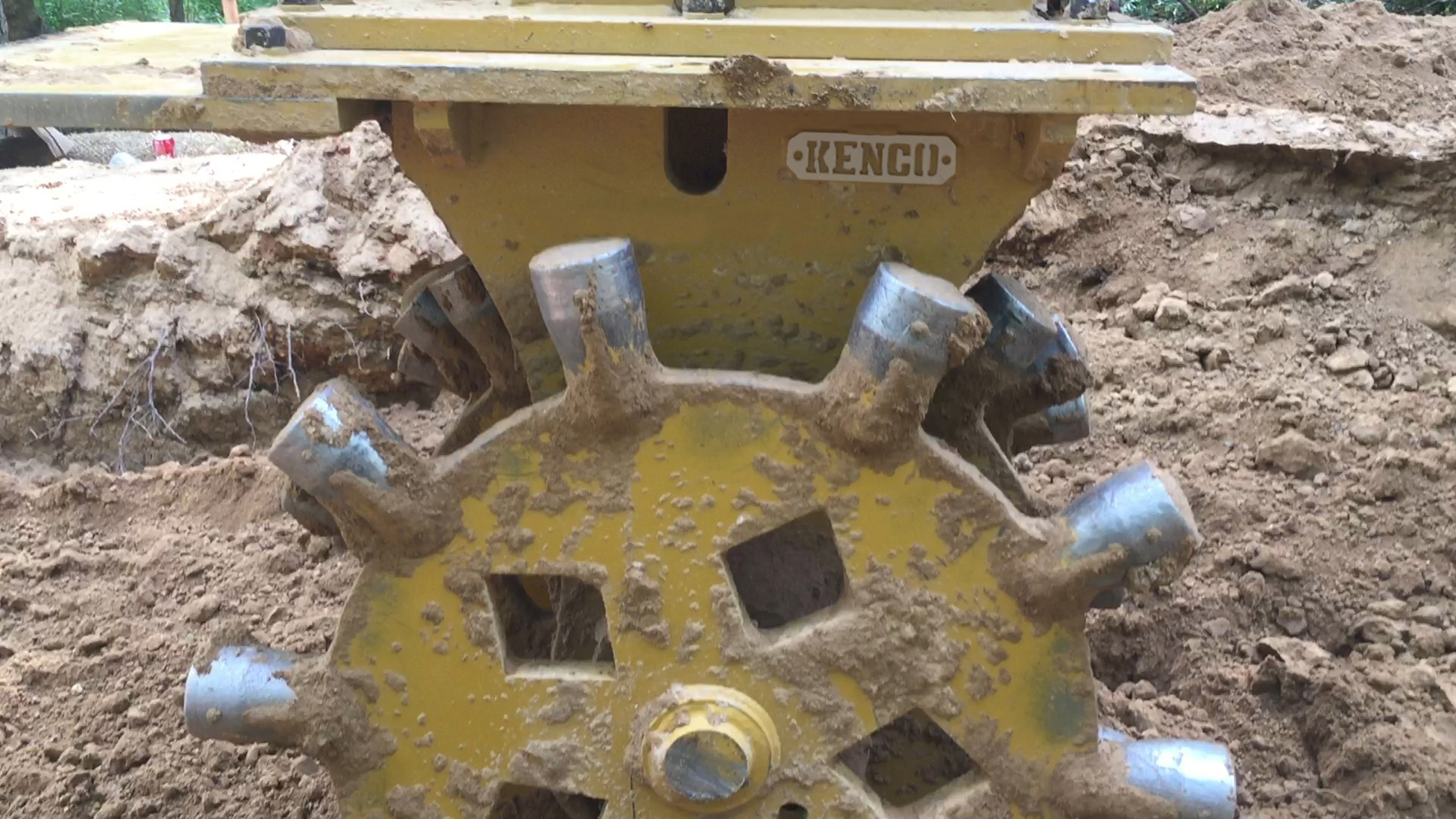 Kenco Compaction Wheel Yellow