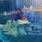 Graboid moving large rocks