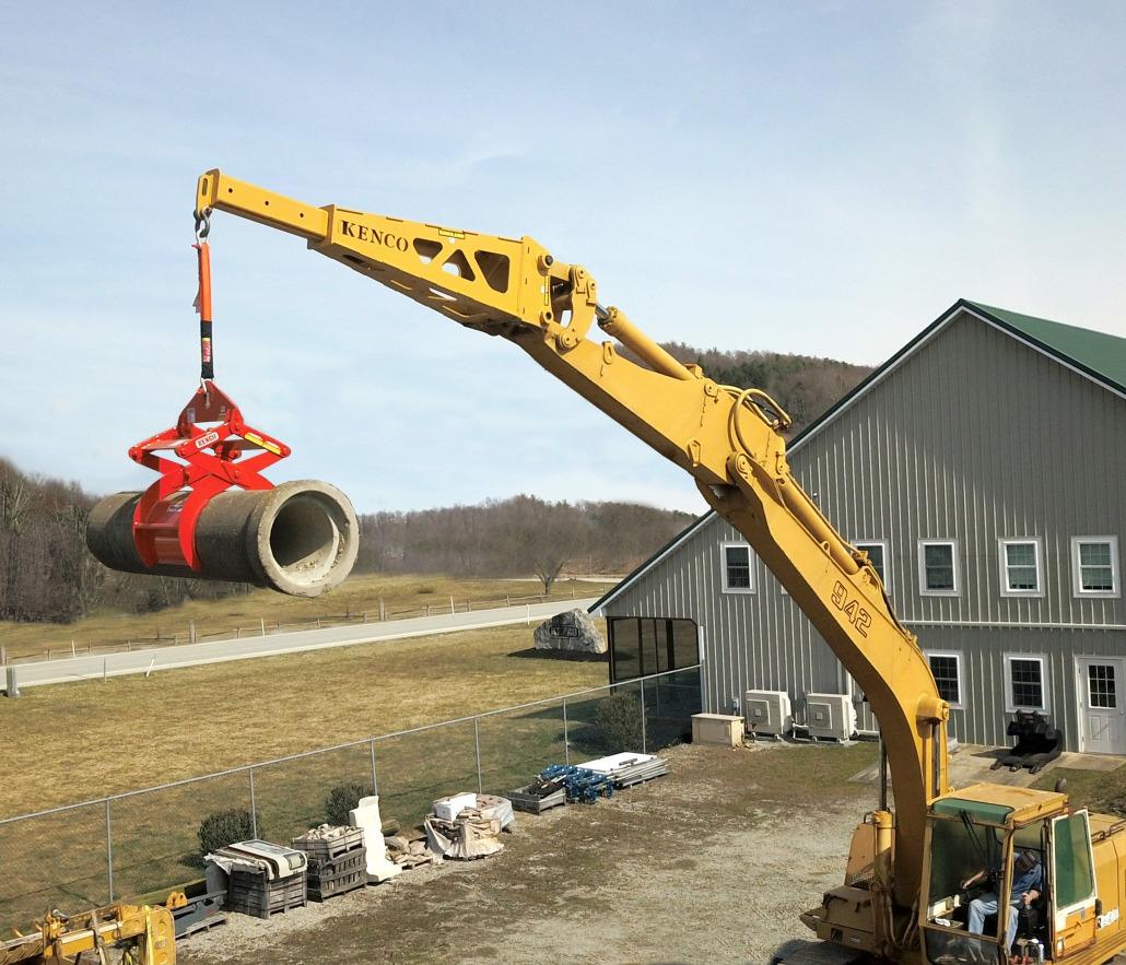 Excavator Jib Moving Pipe